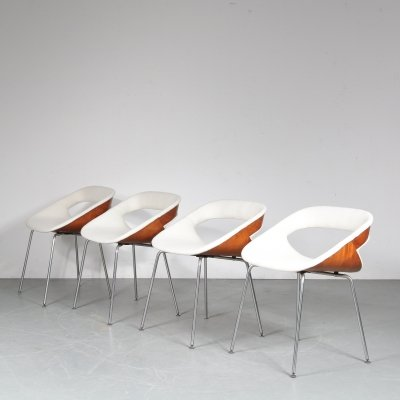 Set of 4 model 130 dining chairs by Geoffrey Harcourt for Artifort, 1960s