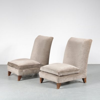 Pair of Lounge Chairs by Marcel Coard, France 1930s