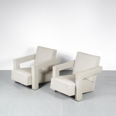 Pair of 'Utrecht' Chairs by Gerrit Rietveld for Metz & Co, the Netherlands 1950