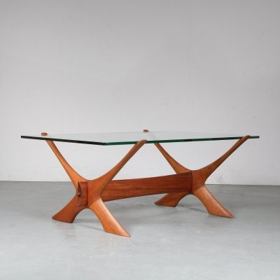 Coffee table by Fredrik Schriever Abeln for Örebro glas, 1960s