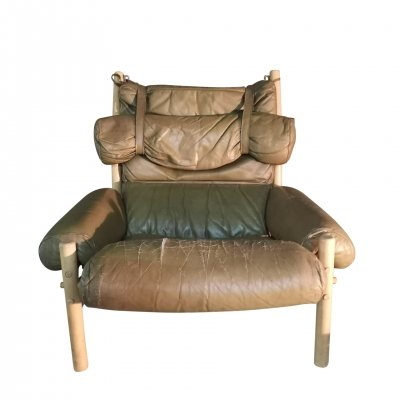 Vintage Inca Lounge Chair by Arne Norell, 1960s