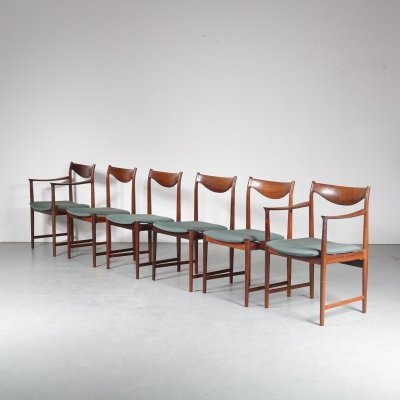 Set of 6 Dining Chairs by Torbjorn Afdal for Nesjestranda Mobelfabrik, Norway 1960