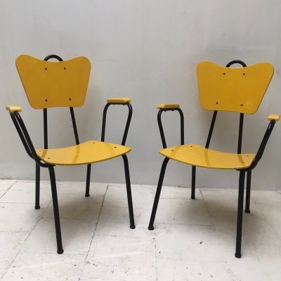 Set of 2 chairs by Jacques Hitier for Tubauto