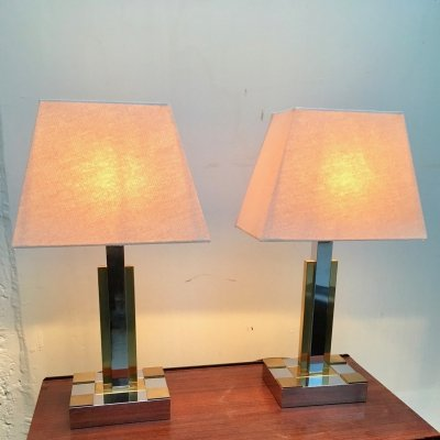 Set of 2 table lamps from the 70's