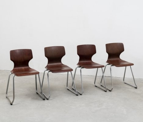 Set of 4 Pagholtz chairs by Elmar Flötotto, 1970s