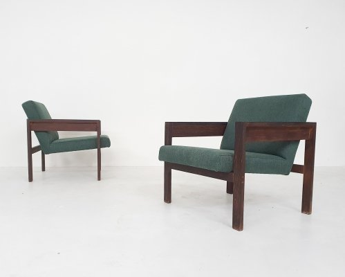 Set of 2 Hein Stolle for 't Spectrum model SZ25/SZ80 wenge lounge chairs, 1959