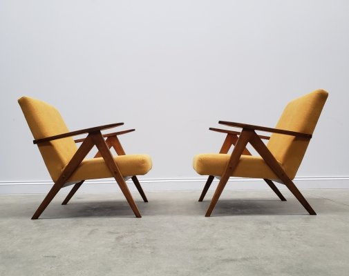 Mid Century Easy Chairs Model B - 310 Var in Yellow