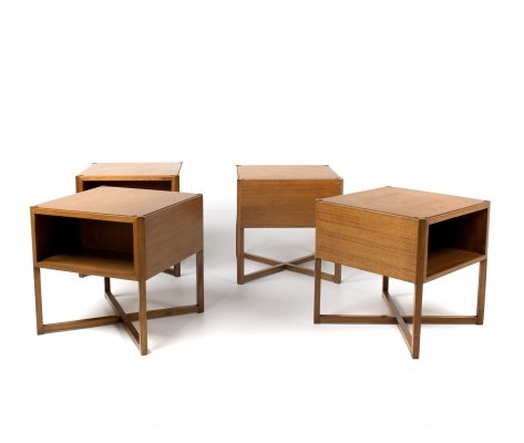 Modular Coffee Table of Four Tables by Luigi Vaghi, Italy 1960