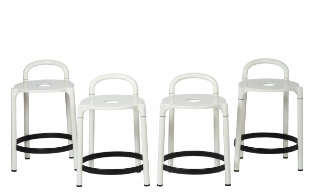 Set of 4 Kartell 'Polo' stools by Anna Castelli, 1979