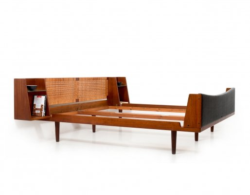 Teak Kingsize Double Bed by Hans J. Wegner for Getama, early 1950s