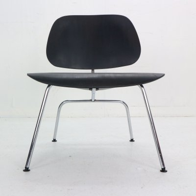 Early Production Ray & Charles Eames for Herman Miller Black 'LCM' Lounge Chair