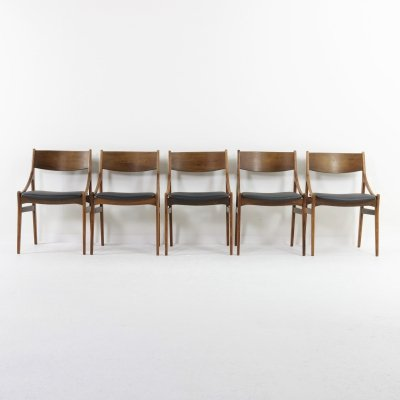 Set of 5 dining chairs by Vestervig Eriksen for Brdr Tromborg, Denmark 1960s
