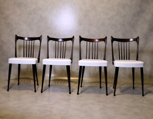 Set of 4 Mid Century Dining Chairs by Stevens, 1950s
