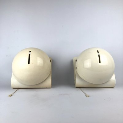 Pair of Vintage Italian 'Bugia' sconces by Guzzini, 1970s