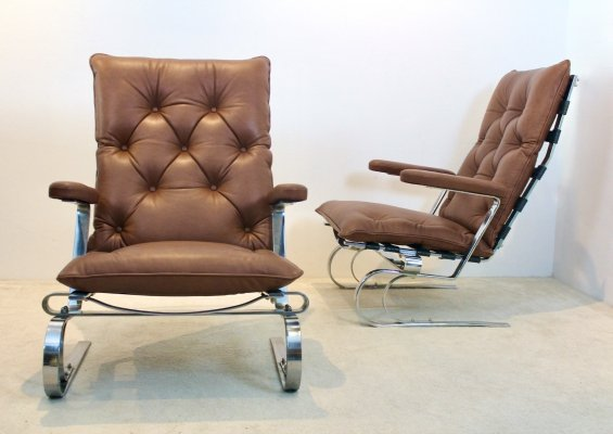 COR Leather Lounge Chair, 1960s