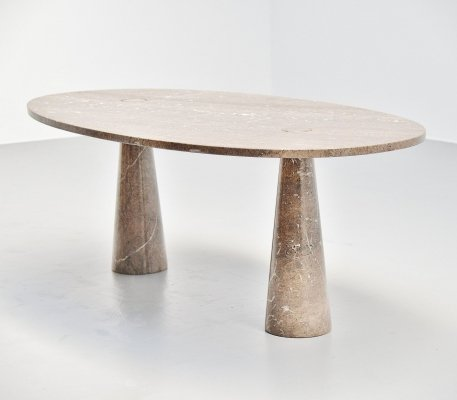 Angelo Mangiarotti Eros mondragone marble dining table for Skipper, 1971