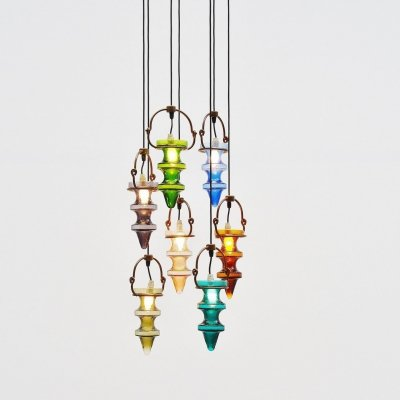 Nanny Still stalactites chandelier by Raak Amsterdam, Holland 1960