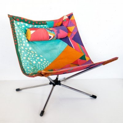 Miamina Lounge Chair by Ottavio Missoni & Alberto Salviati for Saporiti, 1980s