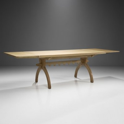 Scandinavian Oak Dining Table, Scandinavia ca 1950s