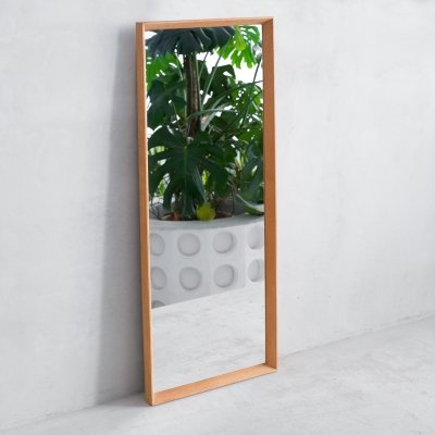 Danish oak framed mirror from A. M. Spejle, 1960s