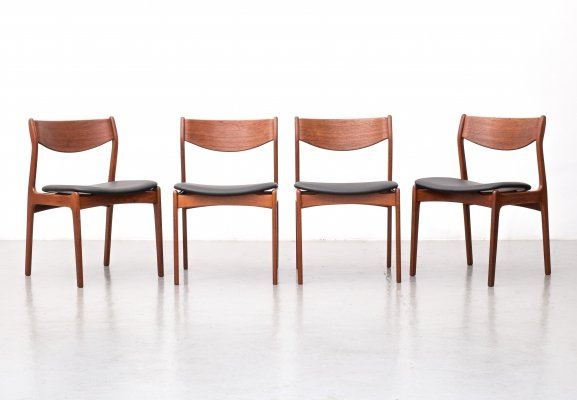 Set of 4 dining chairs by P. E. Jorgensen for Farsø Stolefabrik, 1960s