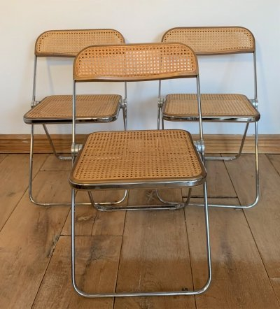 Set of 3 Plia Chairs by Giancarlo Piretti for Castelli