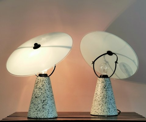 Pair Terrazzo 'Eon' Tabe Lamps by Ikea, 1993