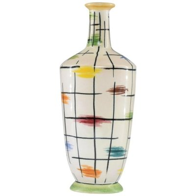 1950s Italian Colorful Ceramic Vase by Pucci Umbertide