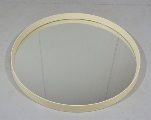 Large round wall mirror, 1960's