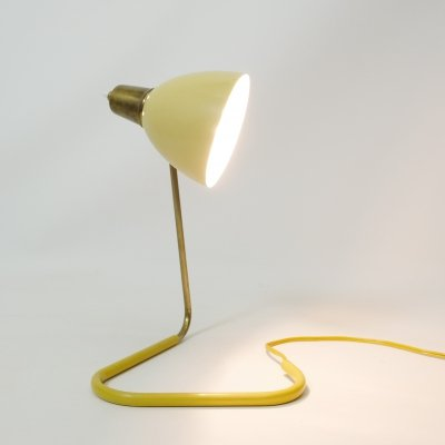 French yellow table lamp, 1950s