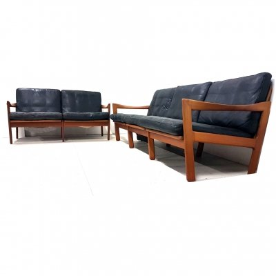 2 & 3 seater modular sofa by Illum Wikkelsø for Eilersen, Denmark 1960s