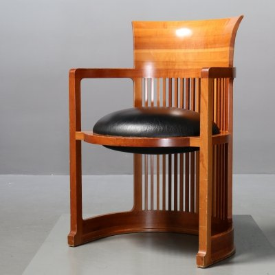 606 Barrel Chair by Frank Lloyd Wright for Cassina, 1990s
