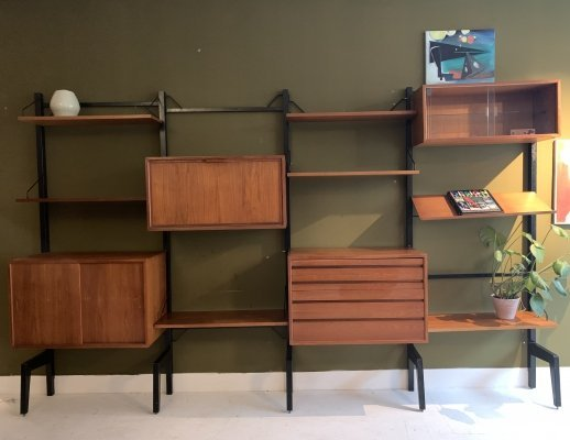 Free standing wall unit by Poul Cadovius, 1950's