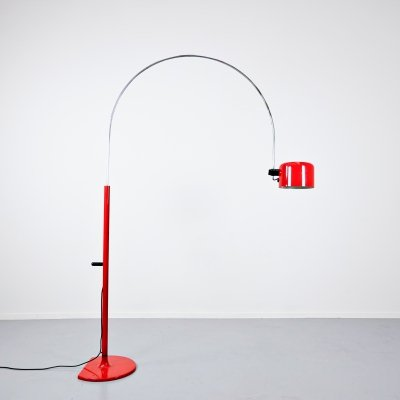 Large Arched Coupe Floor Lamp by Joe Colombo for Oluce, 1970s