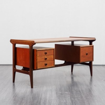 Mid-century teak desk by Punch Design Canada, 1960s