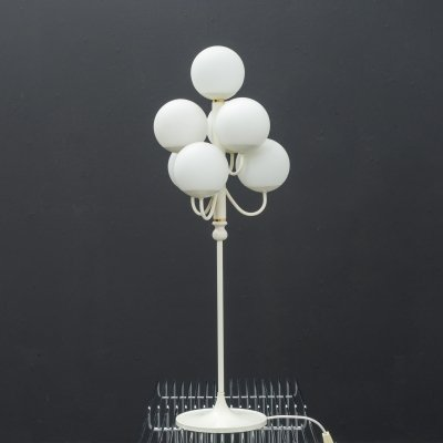Mid-Century table light with opal glass bowls, 1960s