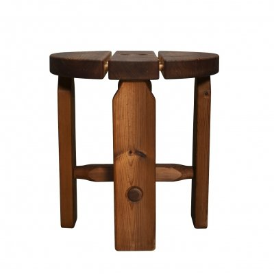 French or Scandinavian pinewood stool
