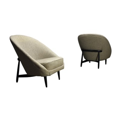 Pair of F815 lounge chairs by Theo Ruth for Artifort