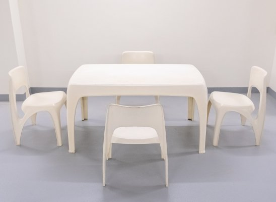 Dining set by Preben Fabricius for Interplast, 1970s
