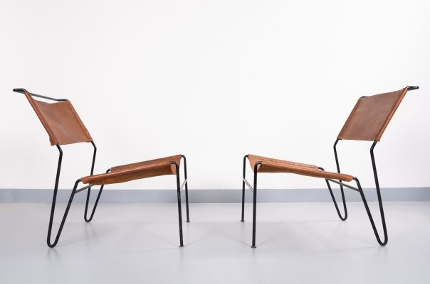 Pair of lounge chairs by A. Dolleman for Metz & Co, 1960s