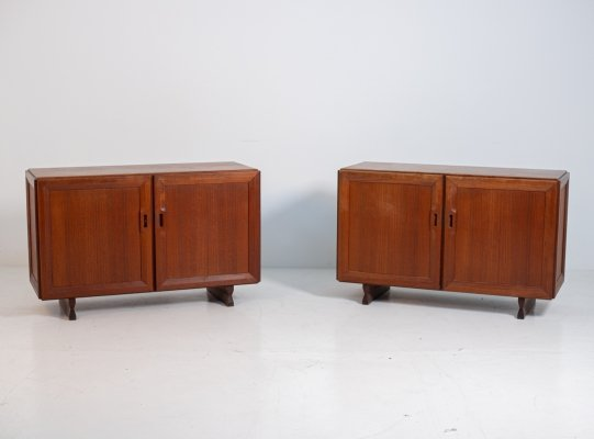 Franco Albini for Poggi Mod MB15 pair of sideboards in wood, 1950s