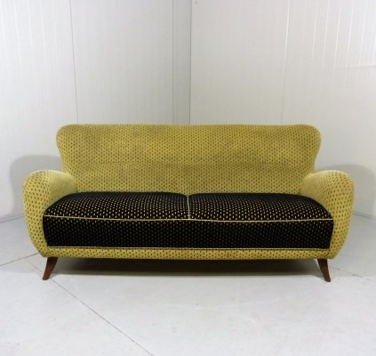 Sofa in yellow & black, 1950's