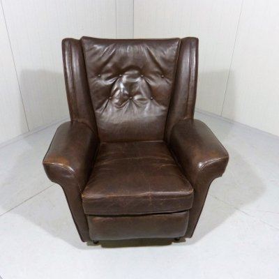 Collins & Hayes leather easy chair, 1960's