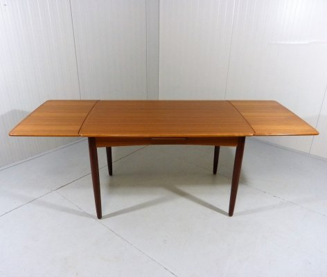 Danish teak extensible dining table, 1960's