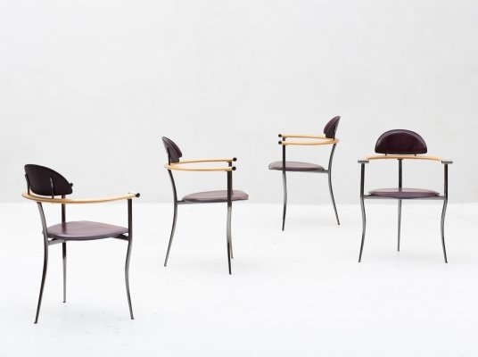 Set of 4 'Marilyn' dining chairs by Arrben, Italy 1980s