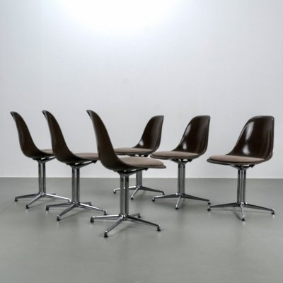 Set of 6 La Fonda chairs by Charles & Ray Eames
