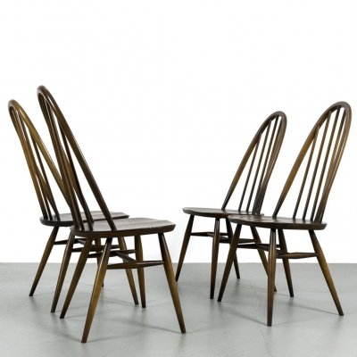 Set of 4 Quaker chairs by Ercol, 1970s