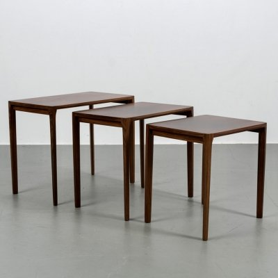 Rosewood nest of tables by Rex Raab for Wilhelm Renz