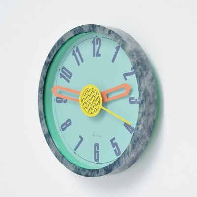 Nathalie du Pasquier & George Sowden grey wall clock by Neos, Italy 1988