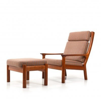 Glostrup High-Back Lounge Chair incl. Ottoman in Teak